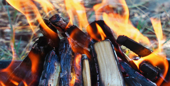 VideoHive Wood Fire 5487699