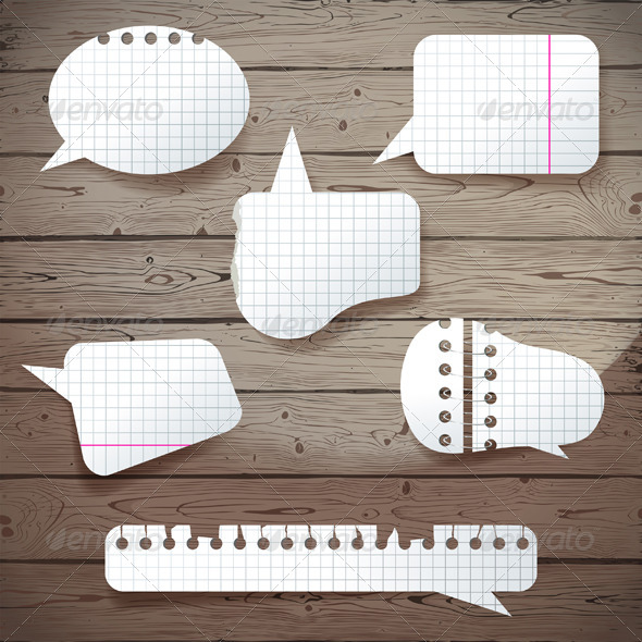GraphicRiver Paper Speech Bubbles 5487718