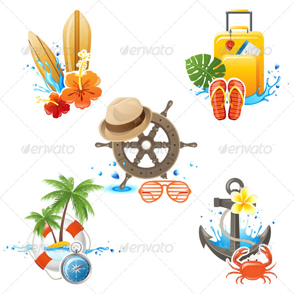 GraphicRiver Travelling Icons 5487762