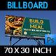 Restaurant Billboard Template  - GraphicRiver Item for Sale