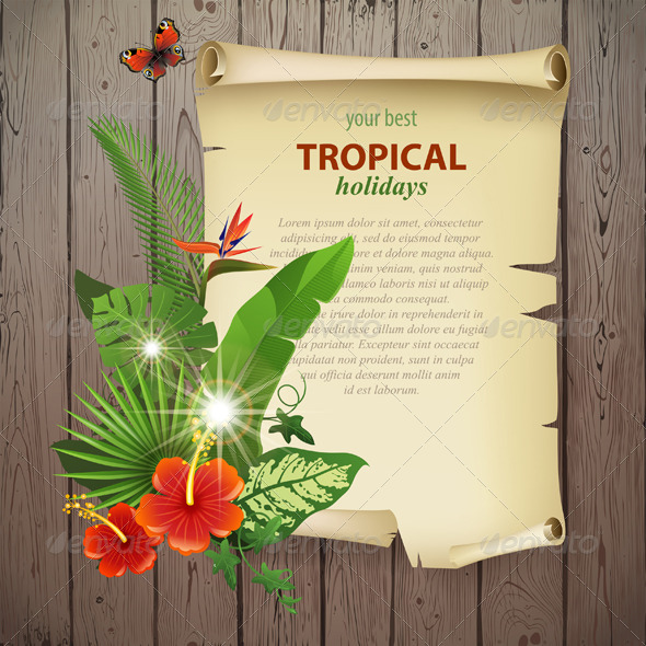 GraphicRiver Tropical Background 5487820