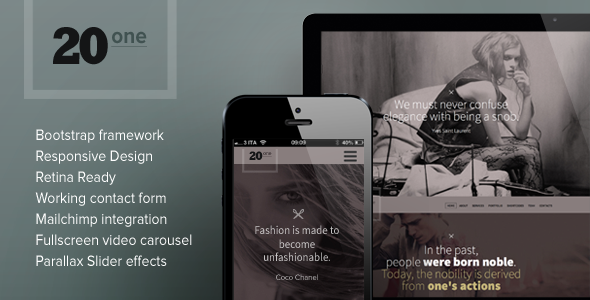 20one Onepage Responsive Multi Purpose Theme