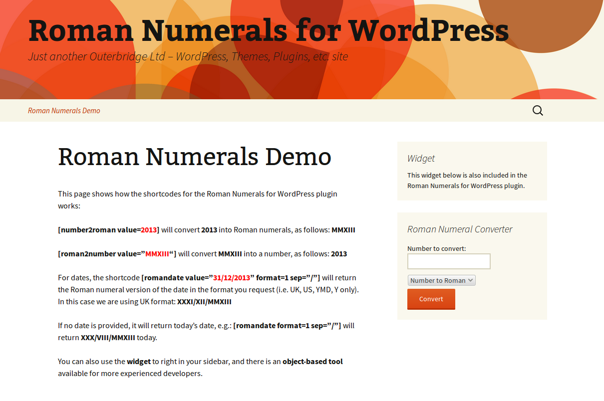 Roman Numerals for WordPress