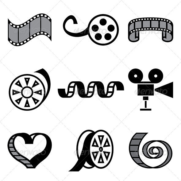 GraphicRiver Cinema and Movie Hand Drawn Icons 5487972