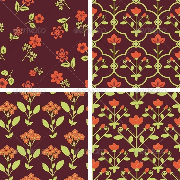 GraphicRiver Floral Patterns 5487999