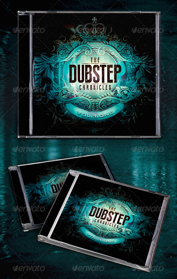 The Dubstep Chronicles CD Template - CD & DVD Artwork Print Templates