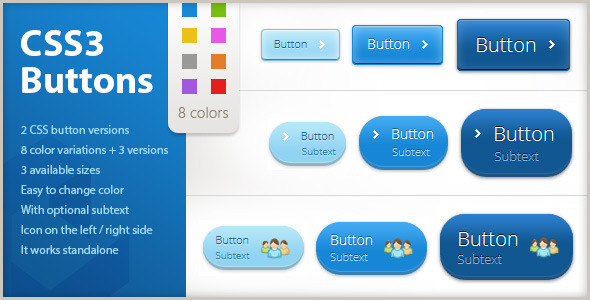 Download Colorful CSS3 Buttons nulled download