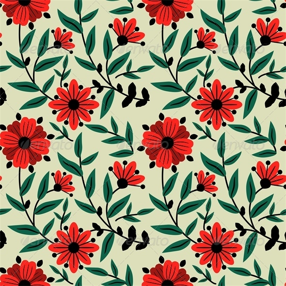 GraphicRiver Floral Pattern 5488440