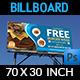 Burger Restaurant Billboard Template Vol.2 - GraphicRiver Item for Sale