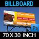 Cake Billboard Template - GraphicRiver Item for Sale