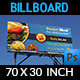 Burger Restaurant Billboard Template - GraphicRiver Item for Sale