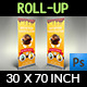 Cake Signage Roll-Up Banner Vol.2 - GraphicRiver Item for Sale