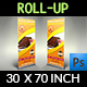 Cake Signage Roll-Up Banner - GraphicRiver Item for Sale