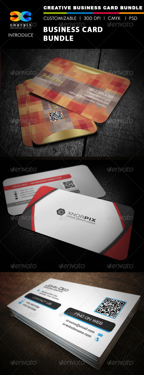 GraphicRiver Business Card Bundle 3 in 1-Vol 24 5488994