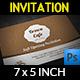 Cafe Invitation Card - GraphicRiver Item for Sale
