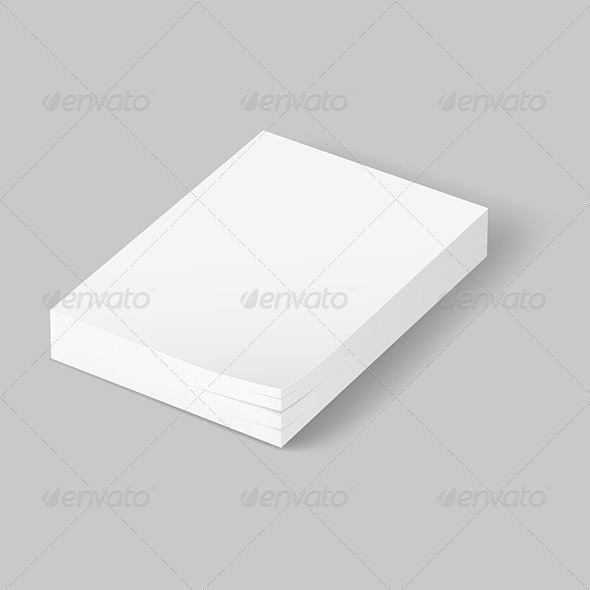 GraphicRiver Stack of blank paper 5489199