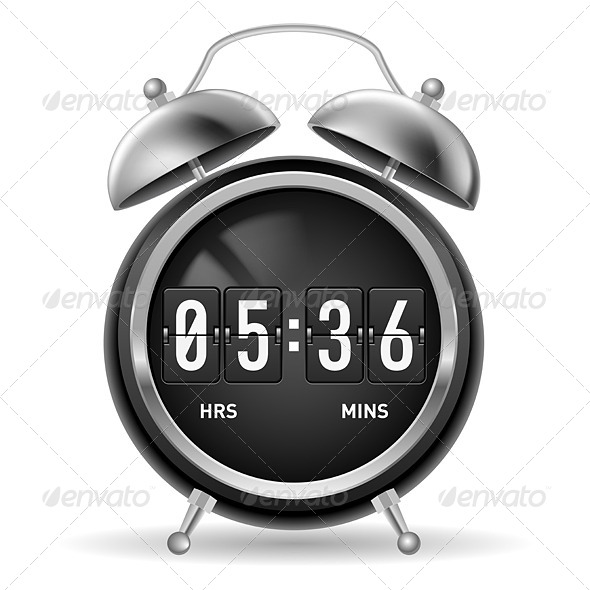 GraphicRiver Retro flip alarm clock 5489267