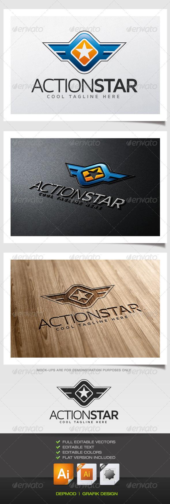 GraphicRiver Action Star Logo 5489603