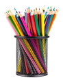 Various color pencils in metal container - PhotoDune Item for Sale