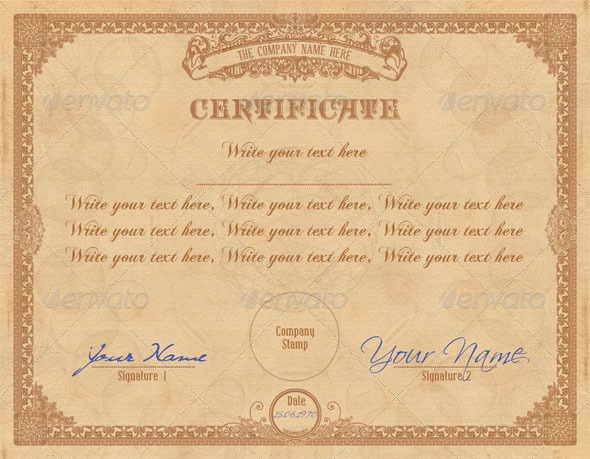 GraphicRiver Vintage Certificate 5489994