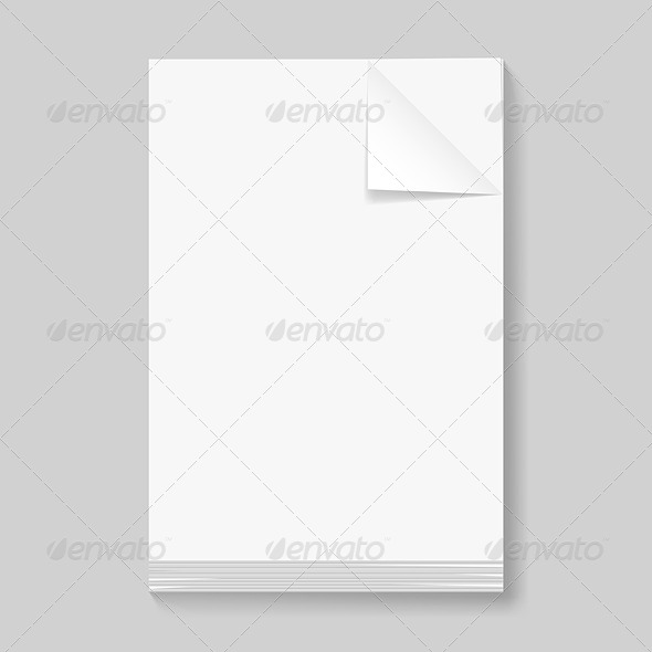 GraphicRiver Stack of blank papers 5490142