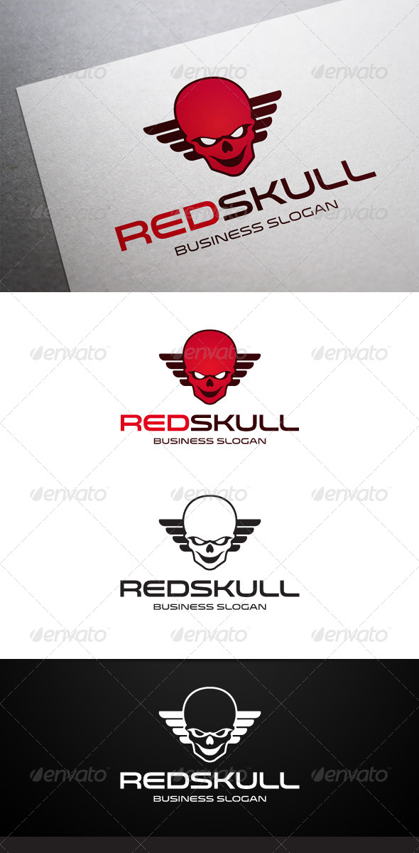 GraphicRiver Red Skull Logo 5490236