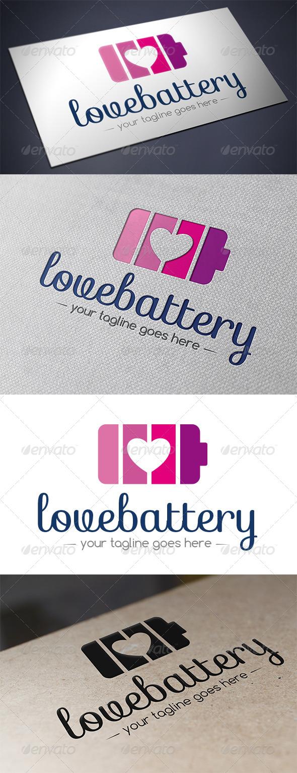 GraphicRiver Love Battery Logo 5490241