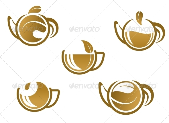 GraphicRiver Set of Tea Icons and Symbols 5490270