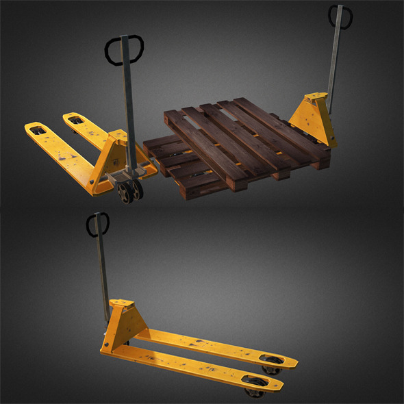 3DOcean Pallet Truck And Pallet 5490574