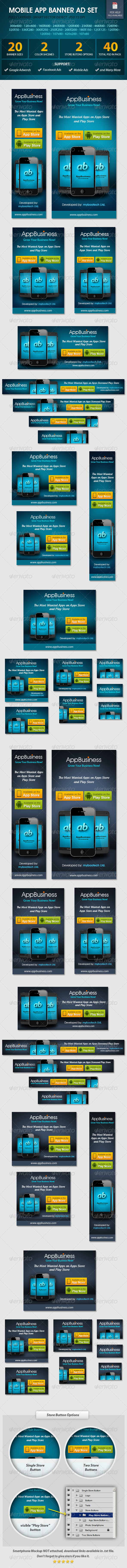 GraphicRiver Mobile App Banner ad Set 5490594