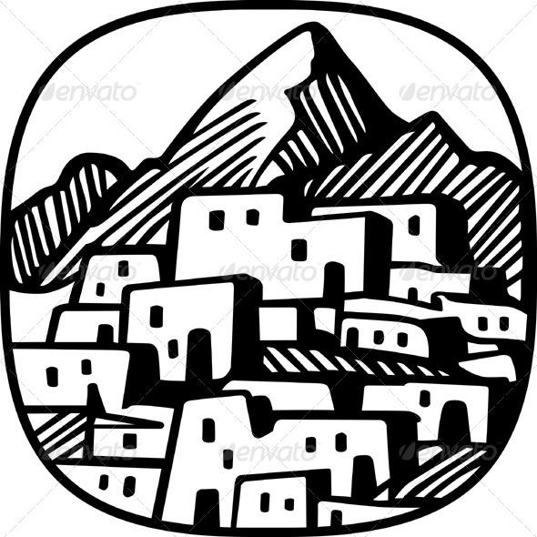 GraphicRiver Mountain Village 5491322