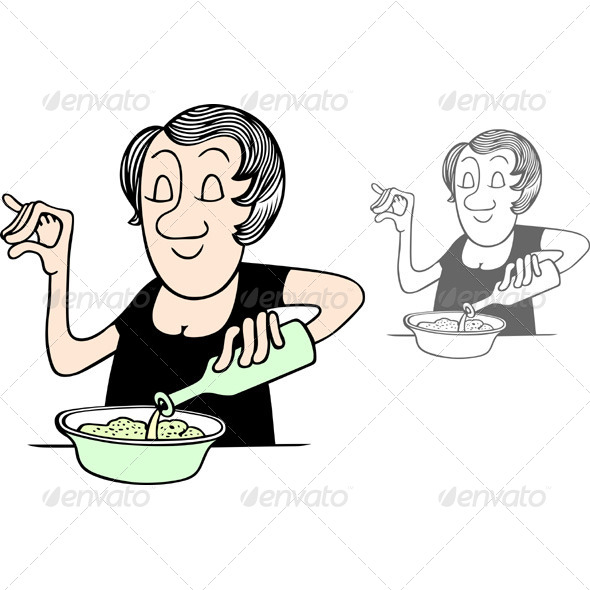 GraphicRiver Cooking Woman 5491337