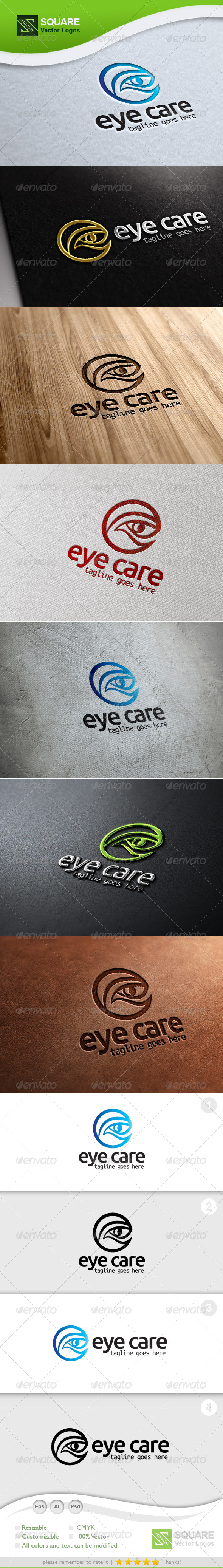 E, Eye Vector Logo Template - Humans Logo Templates