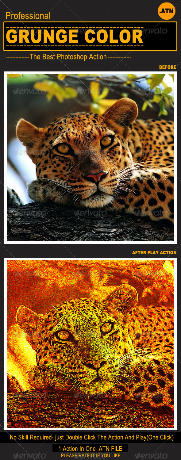 GraphicRiver Grunge Color Photoshop Action 5492325