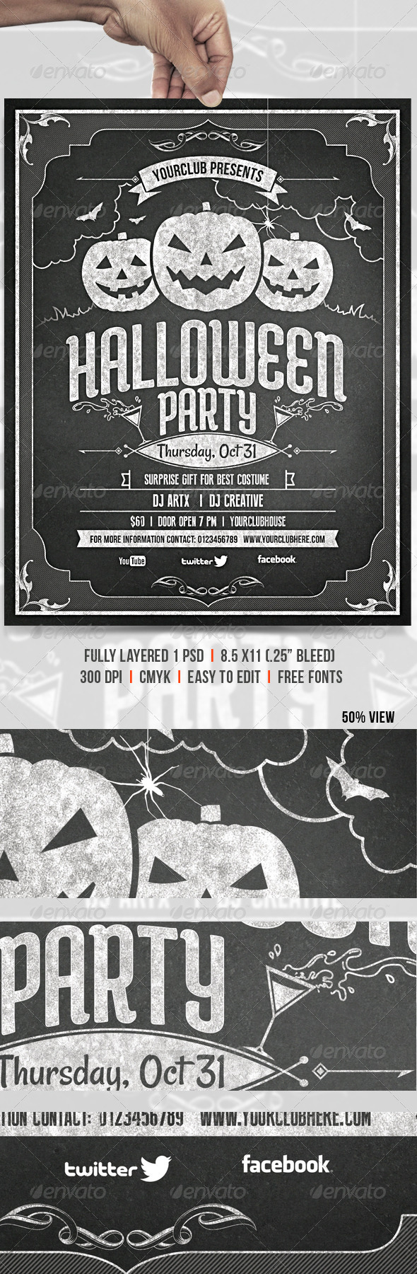GraphicRiver Halloween Party 5482292