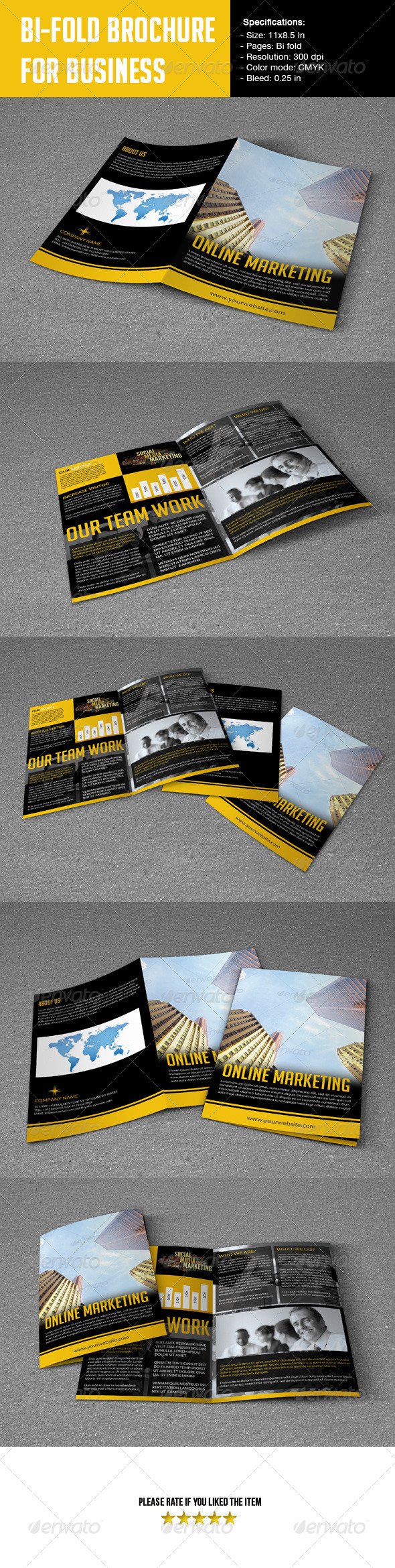 GraphicRiver Bifold Brochure For Business 5492417