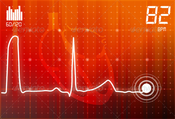 GraphicRiver ECG Abstract Background 5492887