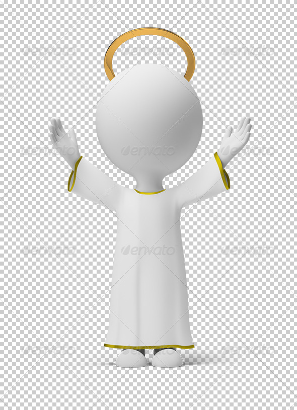 GraphicRiver 3D small people God 5492898