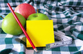 apples pencil and note pad  - PhotoDune Item for Sale