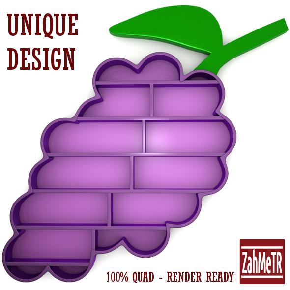 3DOcean Grape Bookshelf Unique Concept Design 5492984