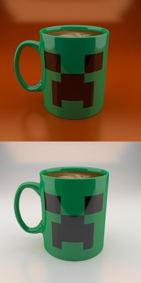 Creeper Coffe Mug - 3DOcean Item for Sale