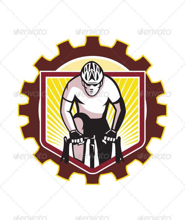 GraphicRiver Riding Cyclist Front 5493044