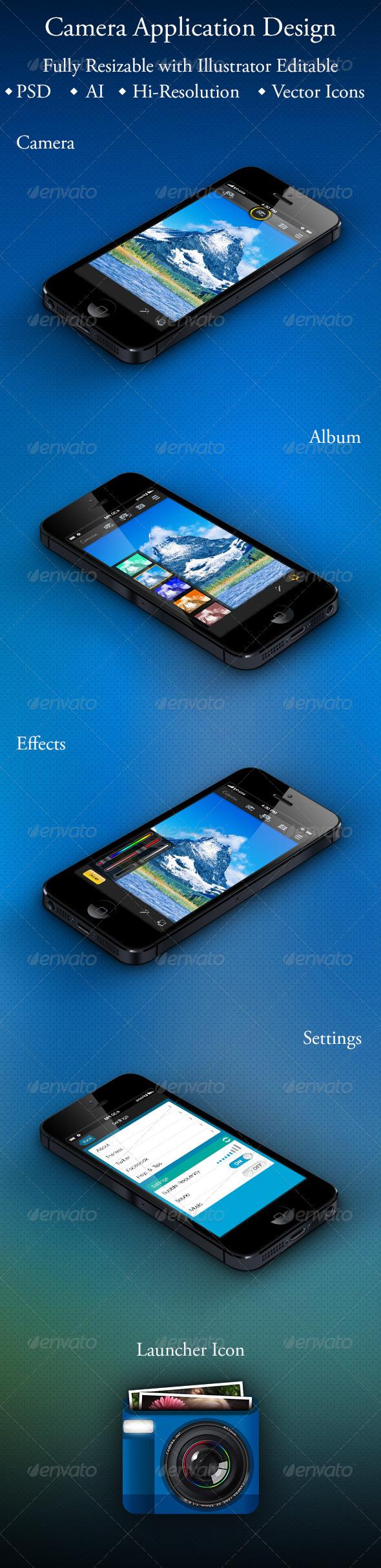 GraphicRiver Camera Application Design for Smartphone 5493071