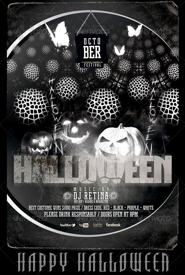 GraphicRiver Halloween Bash Flyer Poster Template 5477785
