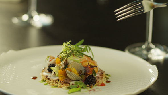 VideoHive Seafood Salad on White Plate 5493190