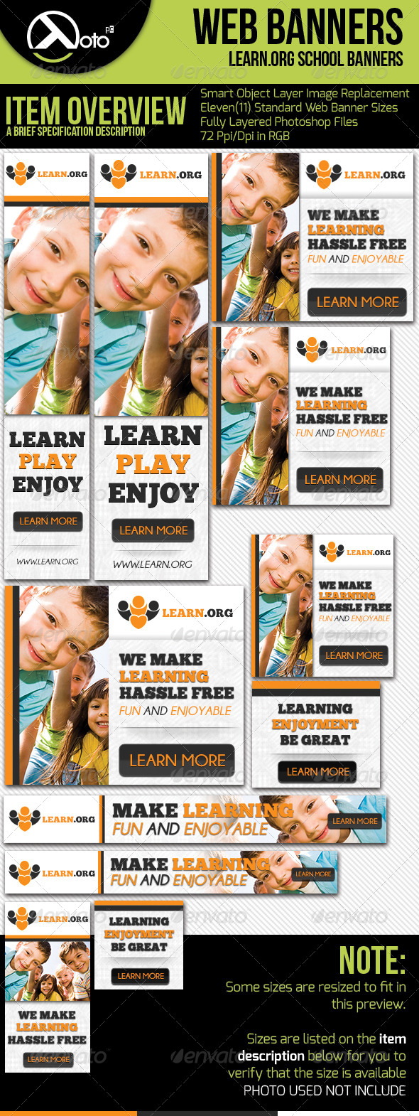 GraphicRiver Child Learning Web Banners 5493234