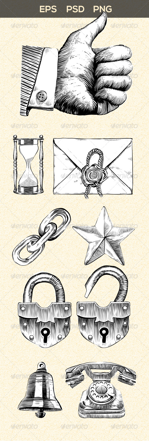 GraphicRiver Vintage Style Web Elements 5493239