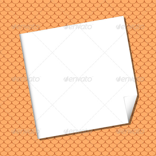 GraphicRiver White Sheet on Seamless Terracota Roof Tile 5493357