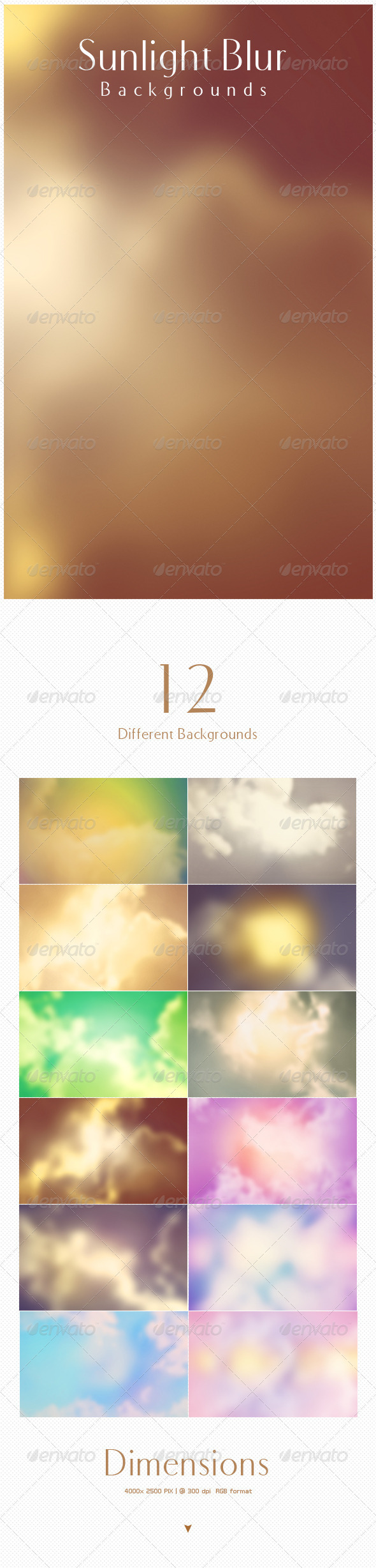 GraphicRiver Sunlight Blur Backgrounds 5493427