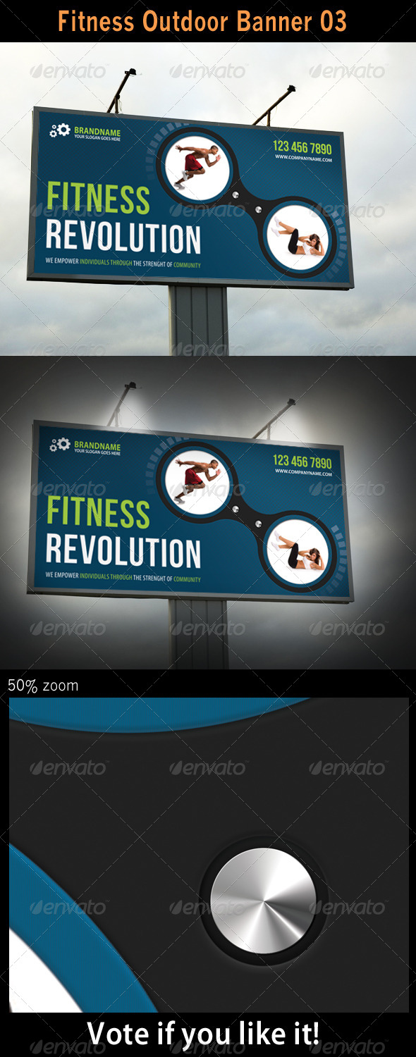 Fitness Outdoor Banner 03 - Signage Print Templates